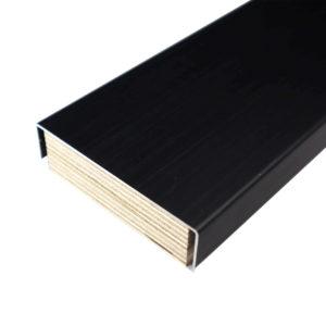 Dionen märkätilan alumiinikynnys sävyssä Carbon black